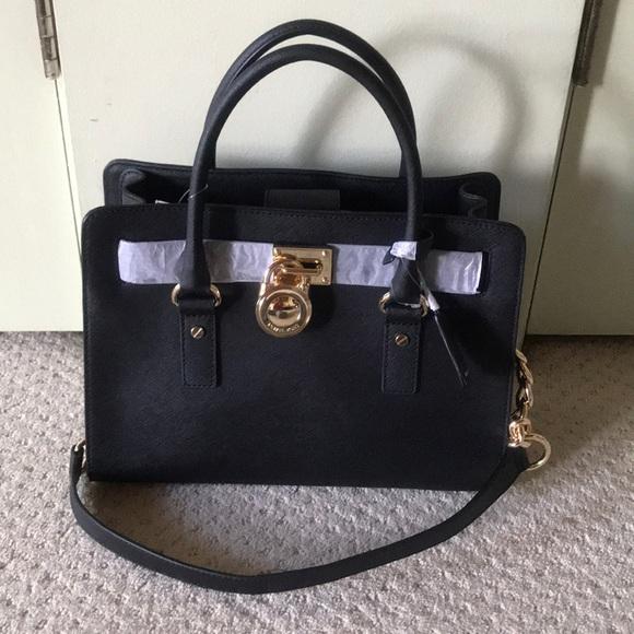 1ffa726bf7e797 Michael Kors Bags | New Hamilton Large Black Tote Bag | Poshmark